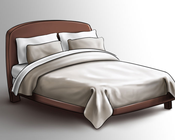 cool, natural bedding