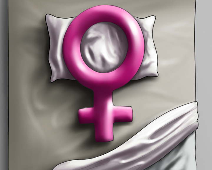 woman symbol in bed