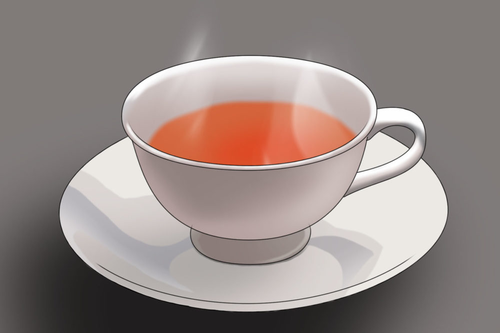 A cup of hot, caffeine-free tea can increase your core temperature and tell your brain it's time for bed.