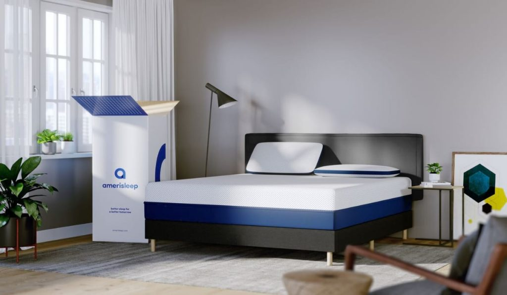 unboxing of newly delivered amerisleep mattress